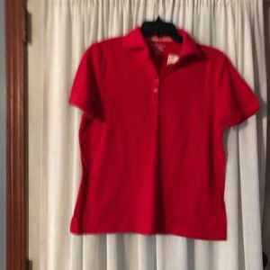 Basic Editions top, never worn , size small red